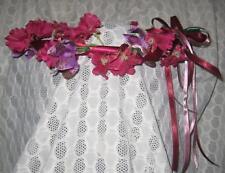 Burgundy & Purple-Mauve Flowers Floral Fairy Head Wreath