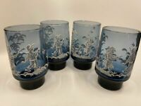 Vintage - Libbey Mary Gregory Glasses – Set of 4