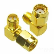 5x RP-SMA Male to SMA Female 90-Degree Connector Antenna Adapter Fatshark FPV