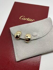 Cartier Nouvelle Vague 1999 Yellow Gold 18k 750 Huggie Post Clip On Earrings