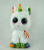 "6"" TY Beanie Boos Glitter Eyes Pixy the Unicorn With Tag Gift Plush Stuffed Toys"