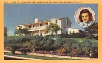 Los Angeles CA~Westwood Village~Child Actress Jane Withers Residence~1940s Linen
