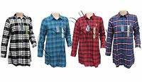 WOMEN'S US POLO ASSN LONG SLEEVE CHECK LONG SHIRT/TOP. CODE- W-23