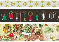3 Limited Edition mt 2013 christmas washi tapes snowflakes candles new