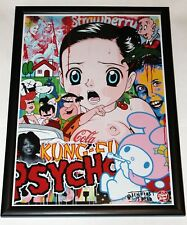 "BEN FROST IS DEAD ""KUNG FU PSYCHO"" PRINT LITHOGRAPH POSTER FRAMED"