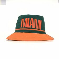 Miami Hurricanes Bucket Hat Mens S/M Fitted Size