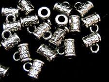 20 Pcs -  Tibetan Silver Barrel Bails Jewellery Beads Findings Craft Beading E29