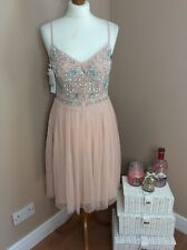 French Connection Genoa Pink Beaded Knee Length Dress - Size 10 - New With Tags