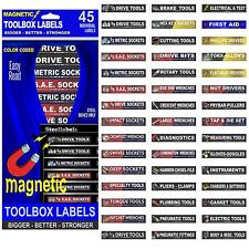 Ultimate Adjustable Magnetic TOOLBOX LABELS for all tool chests
