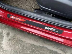 Car Accessories Scuff Plate Rubber Protector Auto Door Sill Cover Sticker Trim