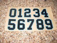 football helmet decals Carolina panthers number sheet 0-9 3m 20 mil full size