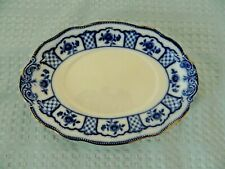 Melbourne W.M. Grindley Flow Blue Oval Platter England