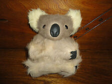 Koala Bear Vintage Real Fur Glass Eyes Leather Claws & Nose 6 inch