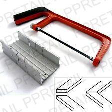 "6"" JUNIOR HACKSAW + MITRE BOX SET Angle Corner/Sawing/Saw/Straight/Holding Block"