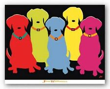 Dog Art Print Five Labs Jim Williams