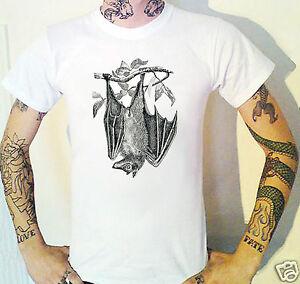Bat T-Shirt Weird Vintage engraving Pagan
