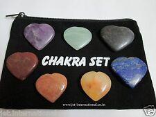 Heart Shaped Chakra 7 Stones Sets A+ Chakra Balancing Reiki Healing Energy Aura