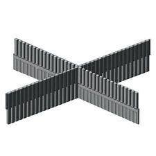 4x ADAM HALL Trennsteg TIEF für 19'' Rackschubladen Schubladen Divider-Trennwand