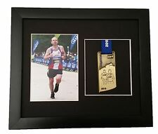 Marathon Medal Photo Frame Black