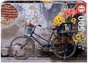 Educa - Bicycle With Flowers Jigsaw Puzzle (500 Pieces)