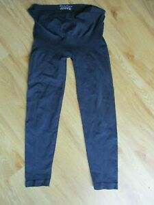 SERAPHINE MATERNITY NAVY BLUE OVER BUMP SUPPORT LEGGINGS SIZE 8-10