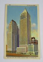 Vintage 1941 Gulf Building & Federal Reserve Bank Postcard, Pittsburgh PA