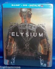 NEW AS IS OOP TARGET EXCLUSIVE MATT DAMON ELYSIUM STEELBOOK BLU RAY & DVD MOVIE