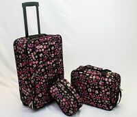 in2it 3pcs travel luggage set 20in carry on + Tote + Travel kits bag for Women