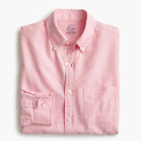 New J Crew Slim Cotton Lightweight Oxford Shirt Button Down Long Sleeve Pink NWT