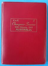 1966 Australia Changeover Set in Red RBA Wallet 12 Coins