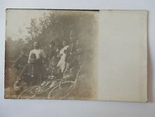 GERMAN MILITARY + BICYCLE REAL-PHOTOGRAPH POSTCARD DATED SEPTEMBER 1914 MIF/1