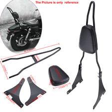 Chrome Dossier Moto Arrière Sissy Bar Pour Harley Sportster Iron 883 1200 XL