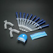 Fashion Teeth Whitening Kit Dental Gels 10 Tubes & 2Pcs Trays & 1Pc White LED
