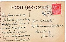 Genealogy Postcard - Family History - Clark - Reading - Berkshire 8462