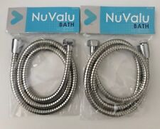 2 X 48'' Inch Long Bathroom Flexible Replacement Shower Hose-Stainless Steel