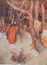 """Edmund DULAC vintage stampa montata, 14 x 11"""", Tempesta di Shakespeare ED15"""