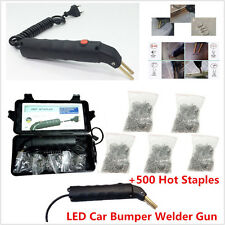 LED Hot Stapler Repair Kit Car Autos Exterior Bumper Welder Gun &500 Hot Staples