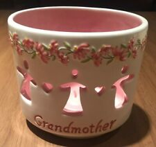 Ceramic Grandmother Votive Candle Holder-Grandmother's/Mo ther's Day Gift