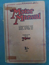 CLASSIC CARS THE MOTOR MANUAL  BOOK PRINTED 1941  RARE FIND