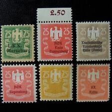 German AOK revenue stamps-MNH-rare-embossed-Germany-Allgemeine Ortskrankenkasse