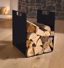 "Holzlege Holzkorb Kaminholzständer ""Cube"" Kaminholzablage Metall schwarz modern"