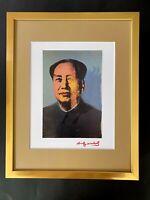 ANDY WARHOL + 1984 SIGNED MAO POP ART PRINT MATTED 11X14 + LIST $595