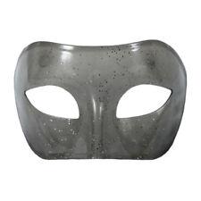 Gray Transparent Venetian Masquerade Mask with Glitter ~ MARDI GRAS WEDDING PROM