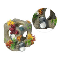 1pc Simulation Coral Rockery Fish Refuge Hole Aquarium Scene Ornament Store