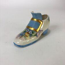 """Vintage Porcelain Loafer Decorative Shoe Planter 4.5"""" X 2.5"""""""