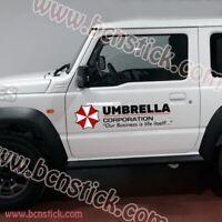 "Kit pegatinas calcomania vinilo para coche 4x4 laterales  ""UMBRELLA"""