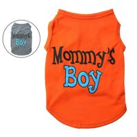 Dog Pet Clothes Summer Mommy's Boy Puppy Vest Sleeveless Dog T-Shirts Apparel