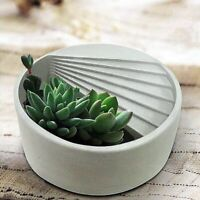 DIY Round Ladder Flowerpot Mold Plaster Resin Craft Concrete Silicone Mould