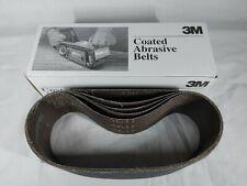 "5x 3M Brand 3"" x 24"" Sandpaper Belts 180 Grit Coated Abrasive Belts 04310"