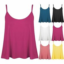 Unbranded Women's Sleeveless Strappy, Spaghetti Strap Cropped Tops & Shirts